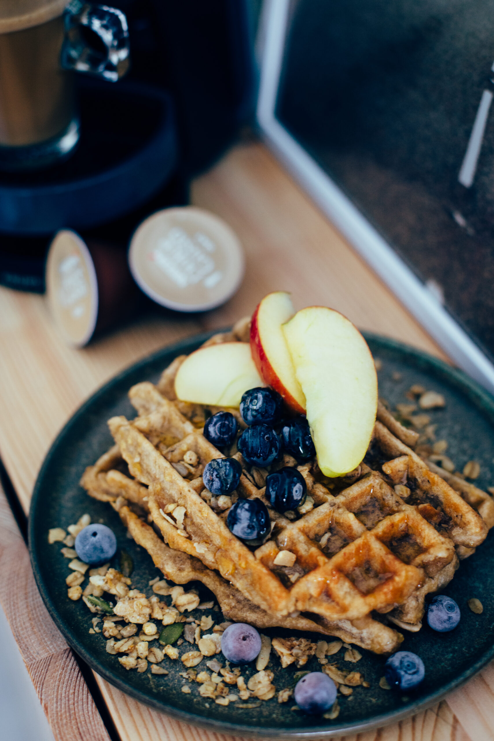 "Featured image for ""134 – Vegan Oatmeal Coffee Waffles"""